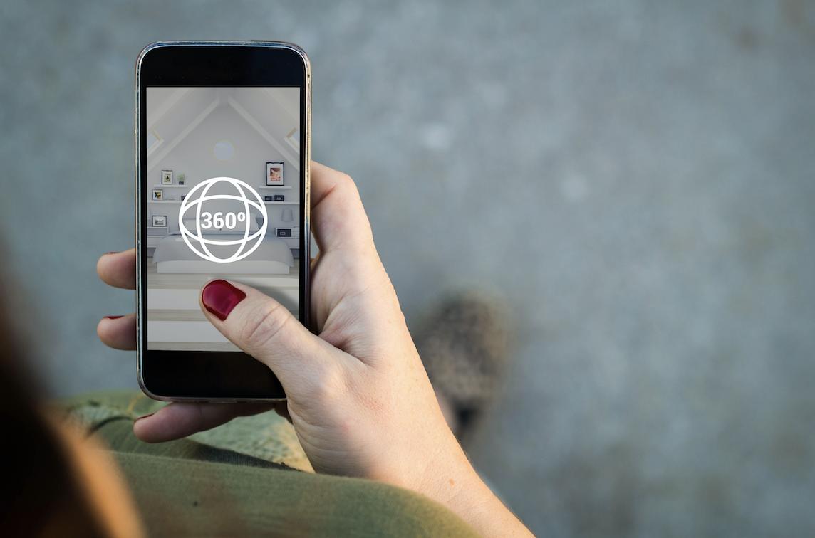 A virtual home tour run off a mobile phone app.