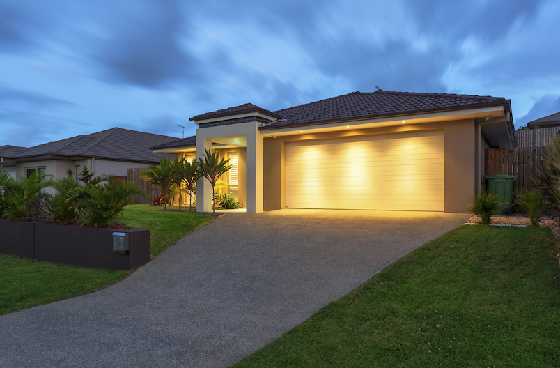 A modern and typical Australian home with featured landscaping.