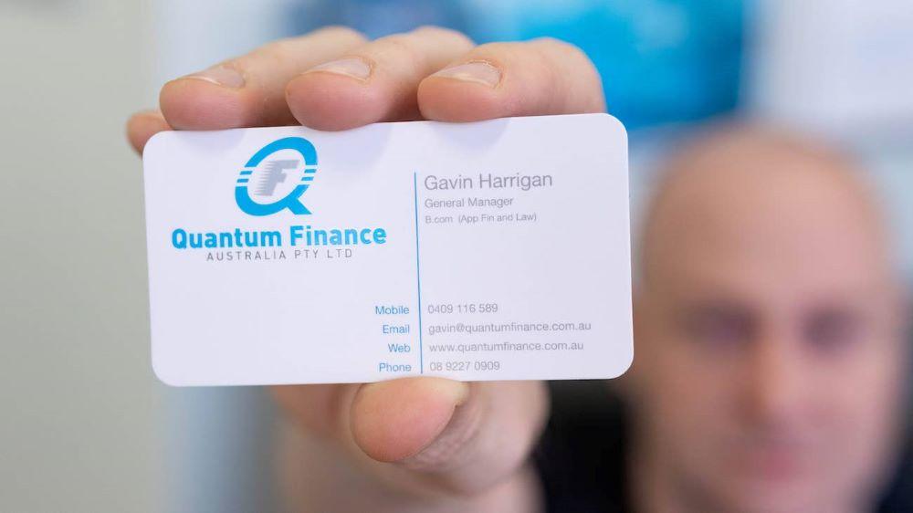 Mortgage broker card.
