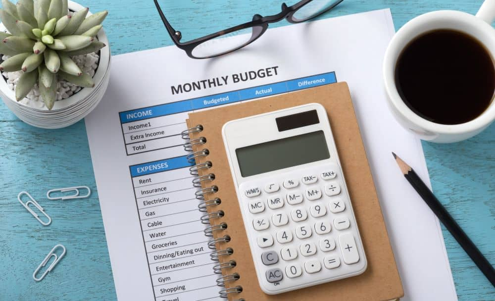 Monthly budget.